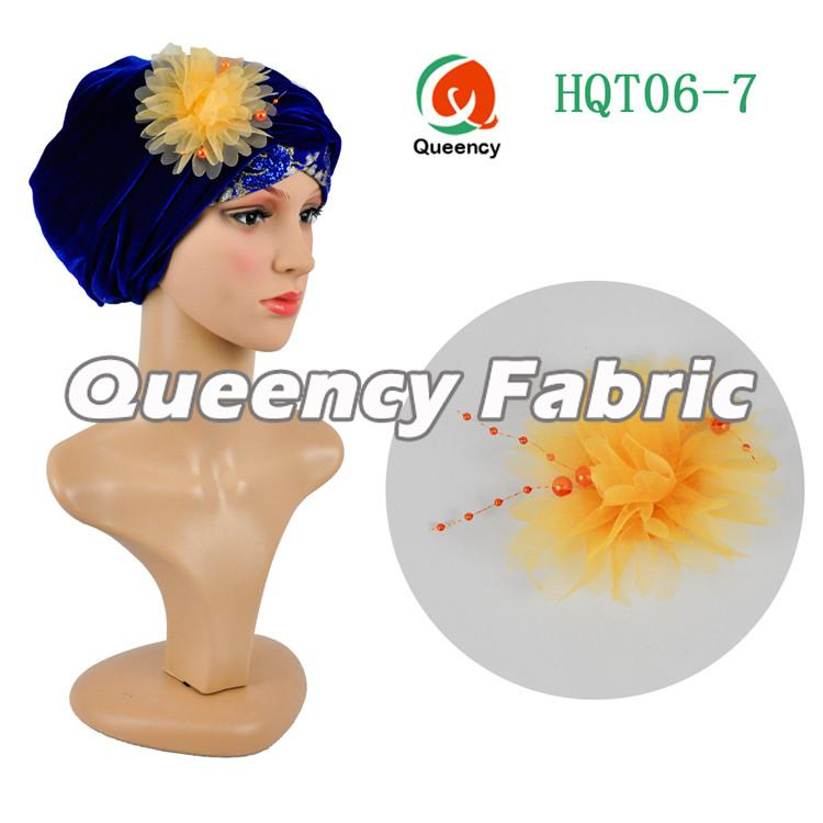 Head Wrap Velvet Plain Turbans