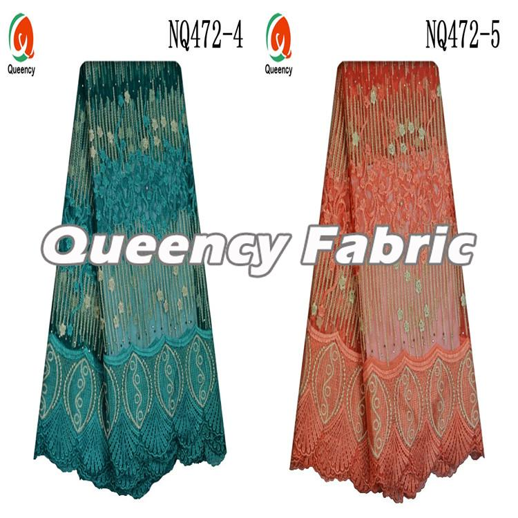 Embroidery Fabric French Lace Stones