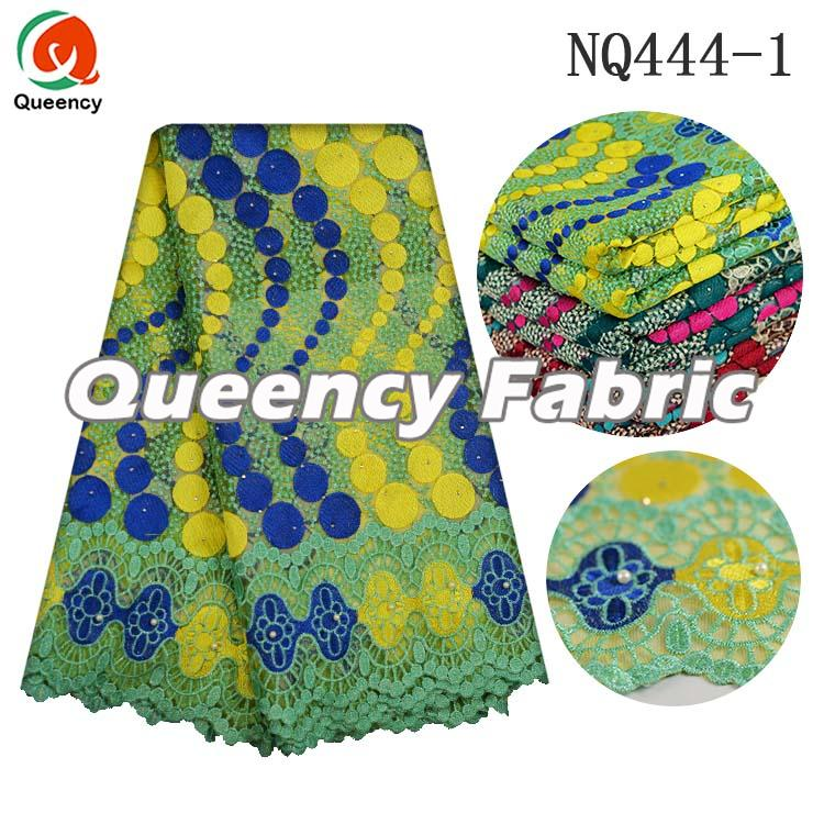 High Quality French Beaded Cotton Lace