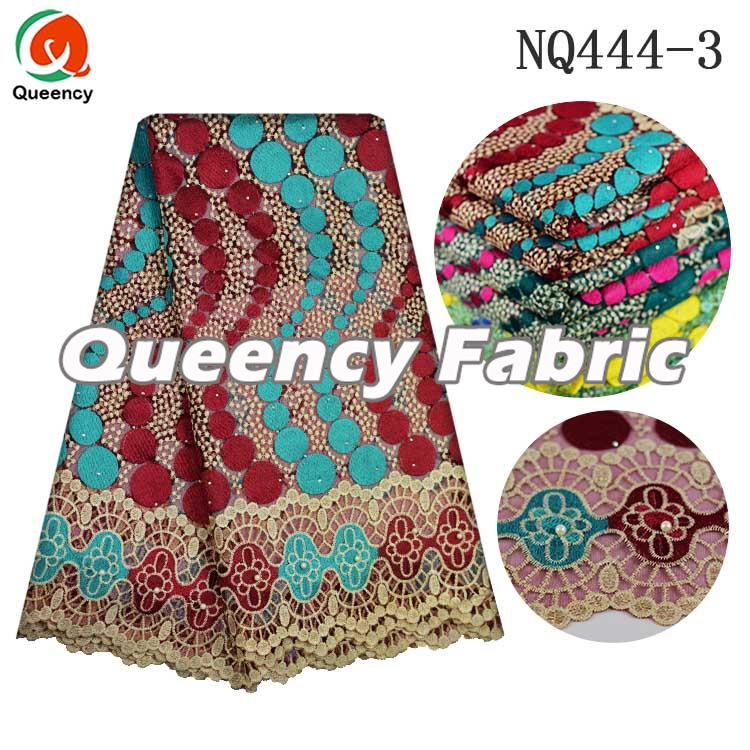 Embroidered French Nigeria Beaded Lace