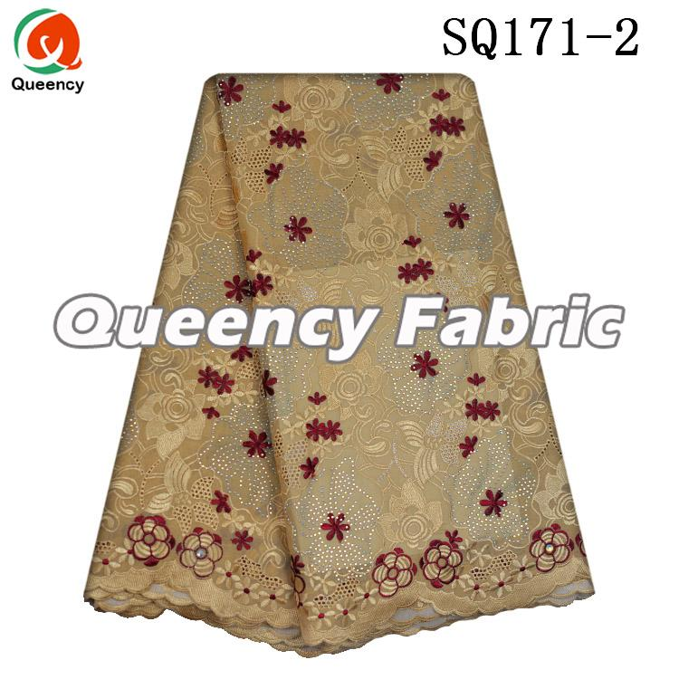 Swiss Voile Stones Lace In Beige