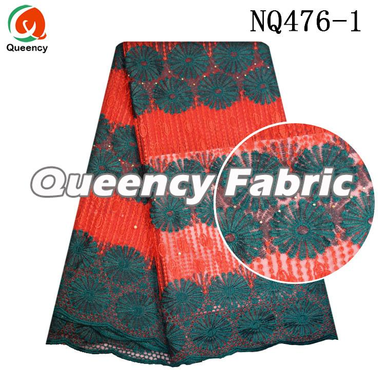 Net Mesh Lace Embroidery Fabric