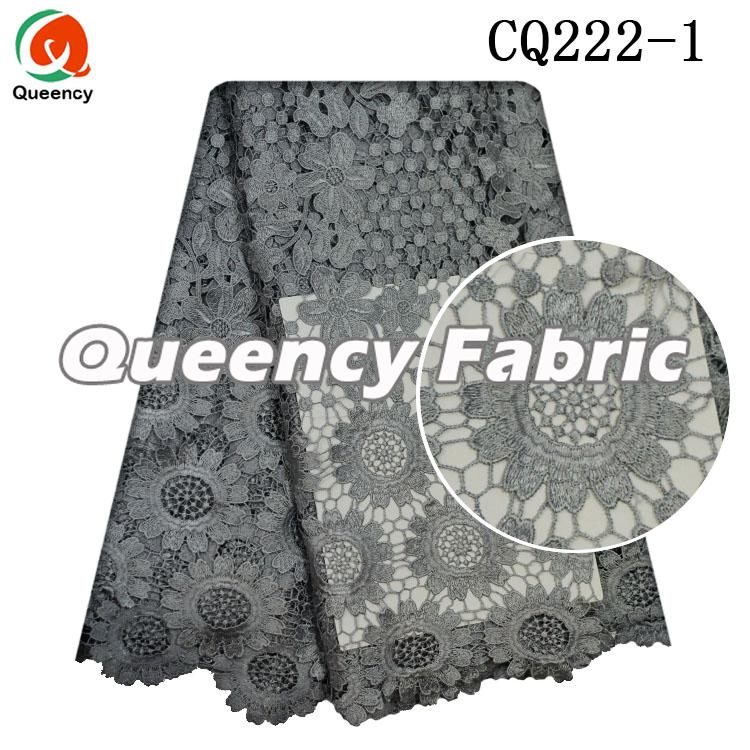 African Guipure Lace In Grey