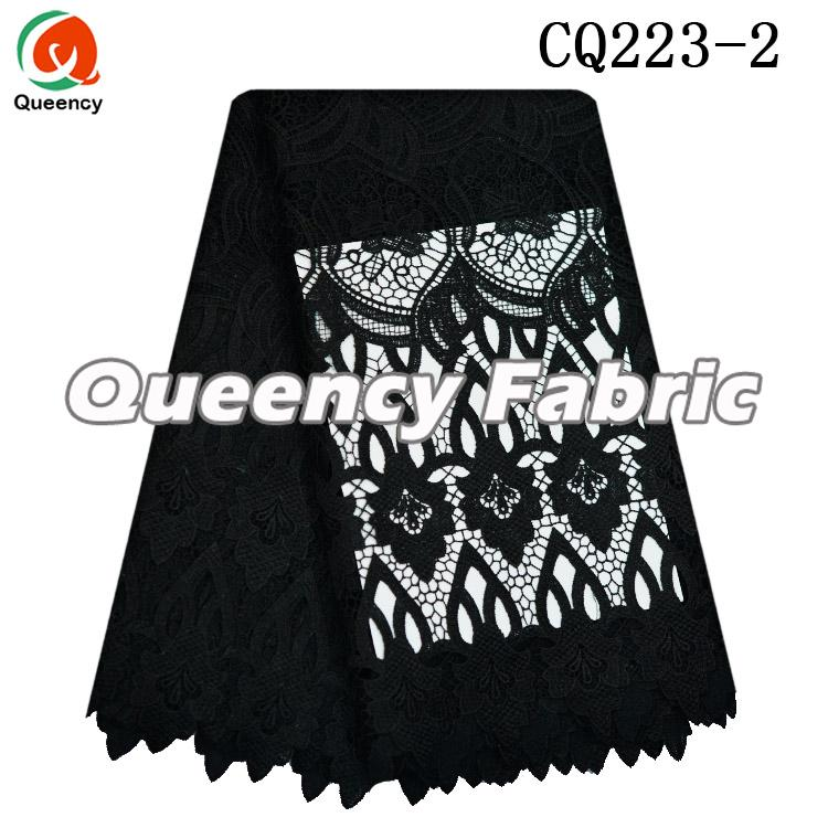 Black Lace Chemical Fabric