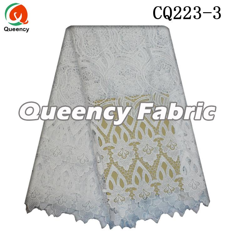 White Guipure Lace Dresses Fabric Style