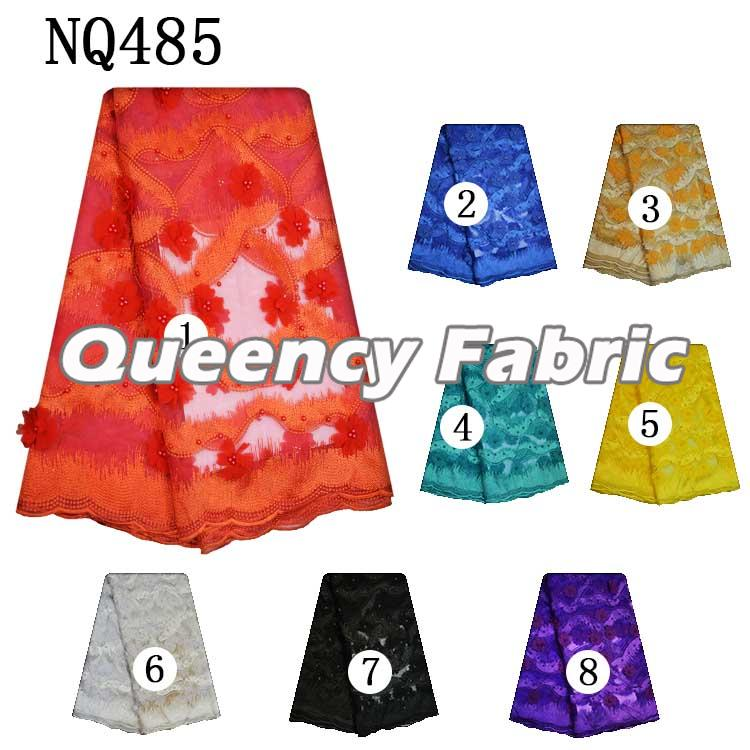 3D French Embroidery Applique Lace