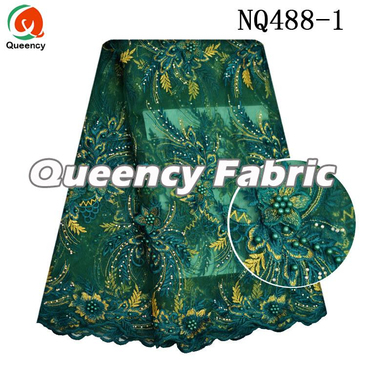 Nigeria French Dresses Beaded Lace