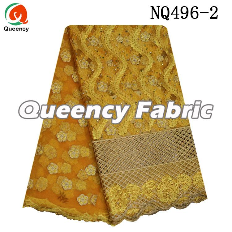 Gold Tulle Style Nigeria Lace