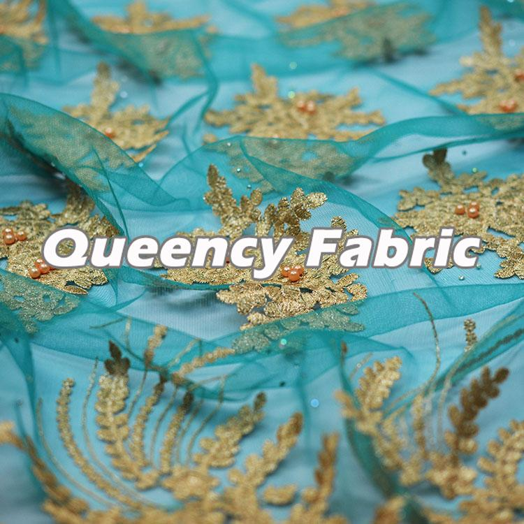 Wholesale Beaded Lace French Embroidery