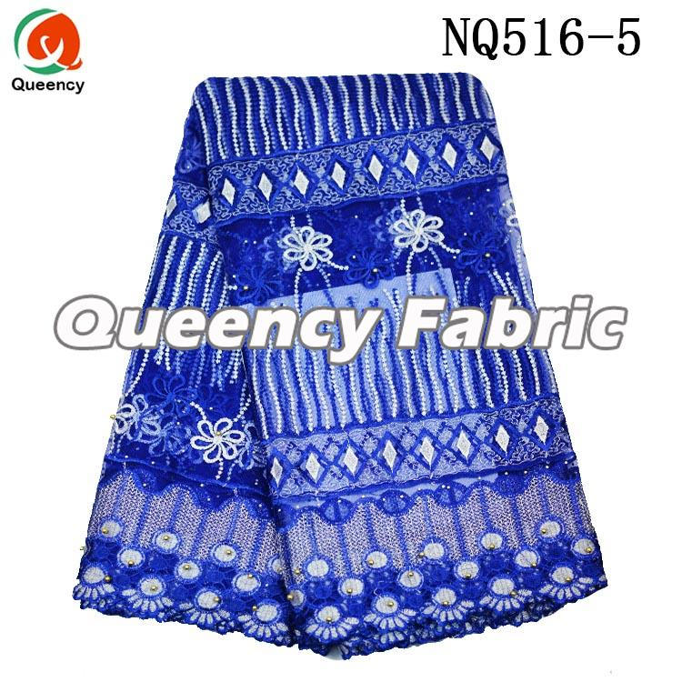 Royal Blue Net Lace