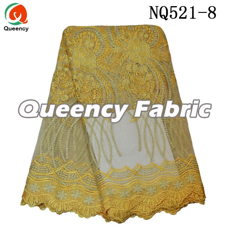 Gold Lace African Tulle Fabric