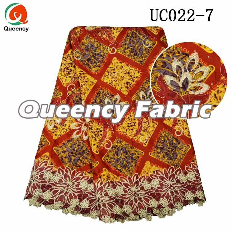 Ankara Lace Embroidered Printing Fabric