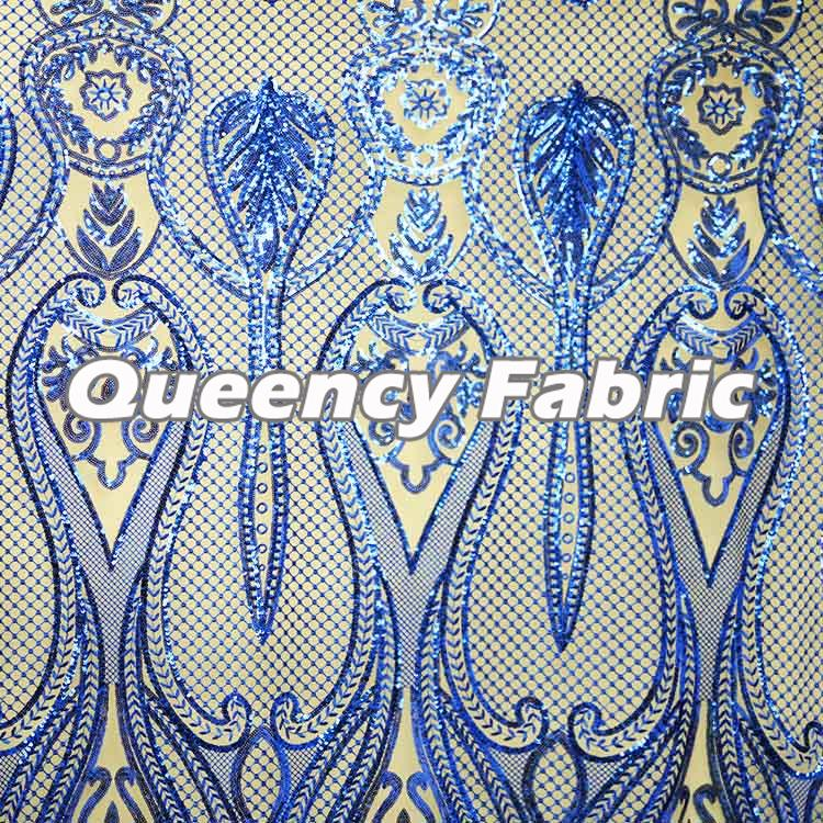 African Sequins Net Lace Fabric