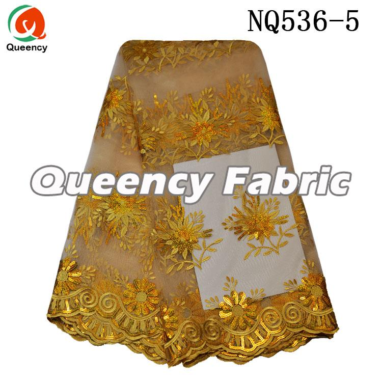 African Net Lace Embroidered Fabric