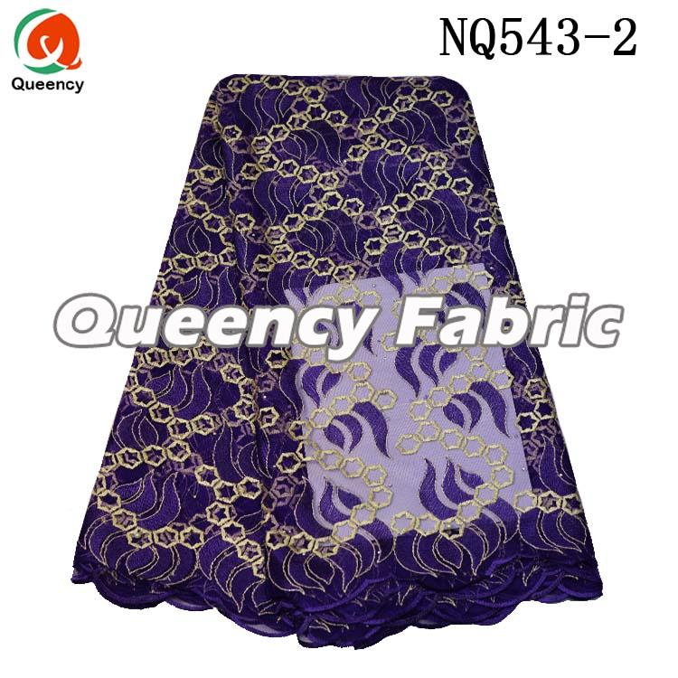 Purple Tulle Lace Fabric