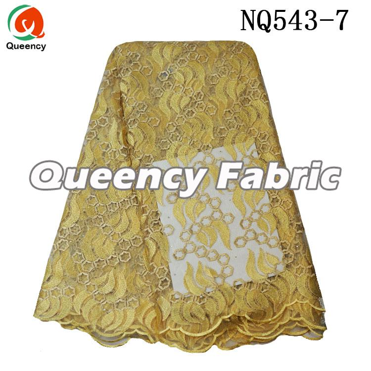 Gold Tulle Party Lace Dresses Fabric