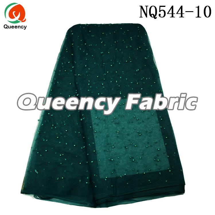 Teal African Tulle Fabric