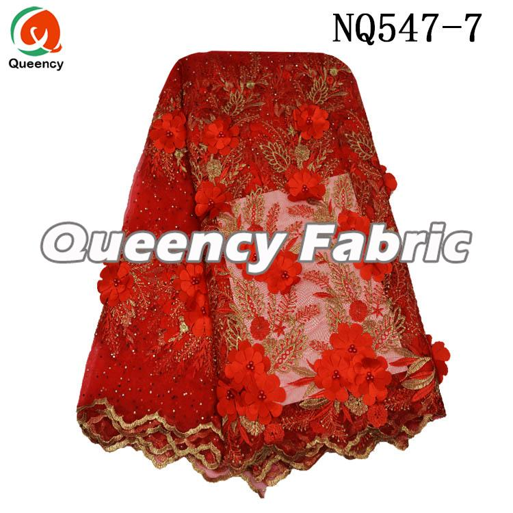 Nigeria Ladies Wedding Net Lace Dresses