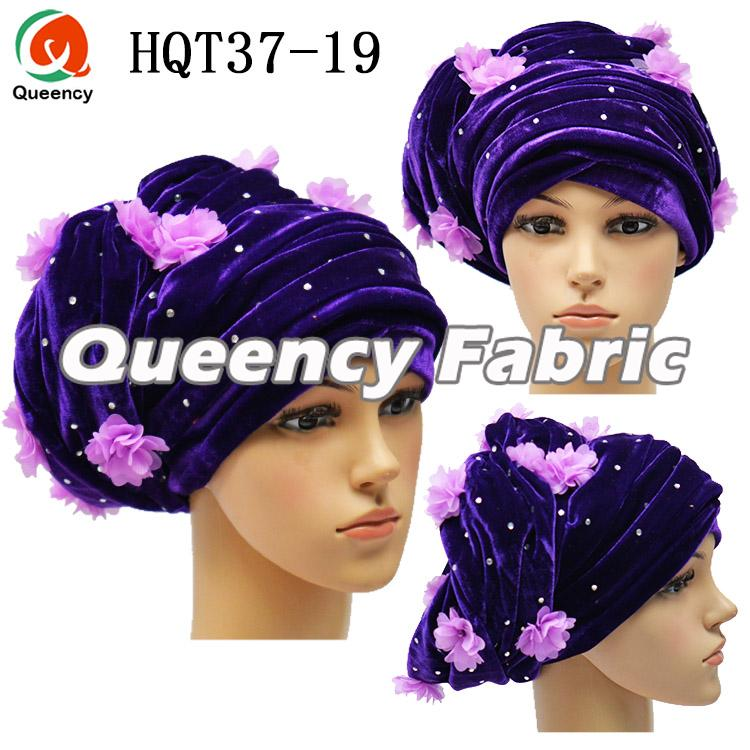 Plain Turban Velvet Head Hat