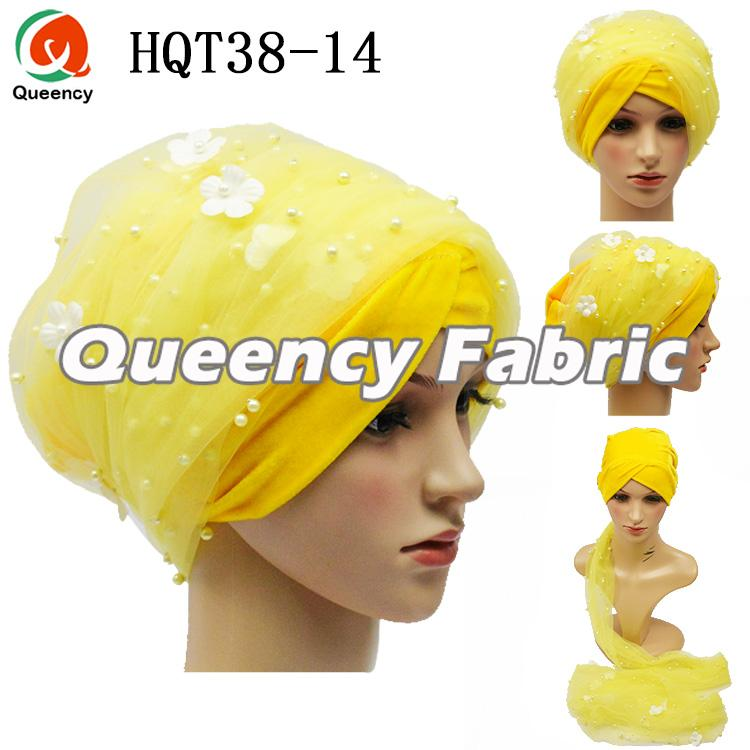 Yellow Applique Turban Ladies Headband