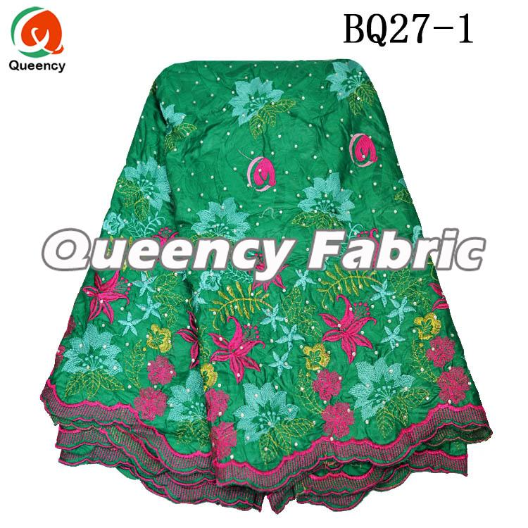 Beaded Bazin Brocade Embroidered Fabric