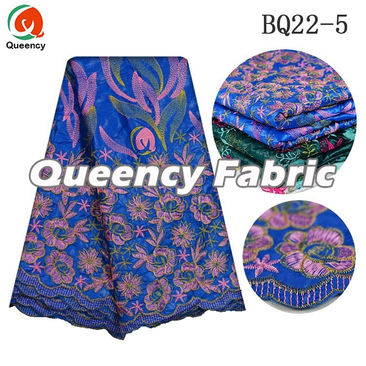 African Bazin Ladies Wedding Dresses Embroidered Fabric