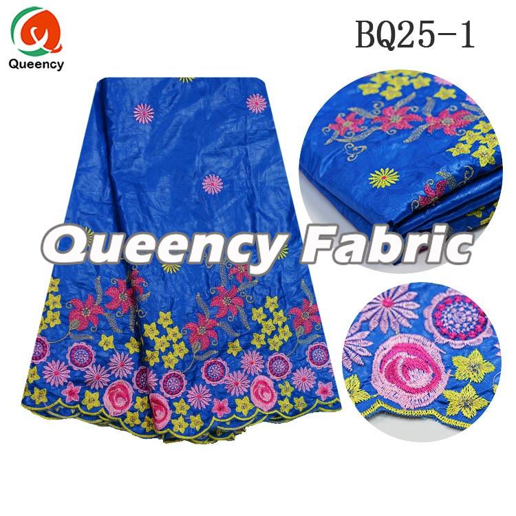 African Ladies Embroidered Bazin Fabric