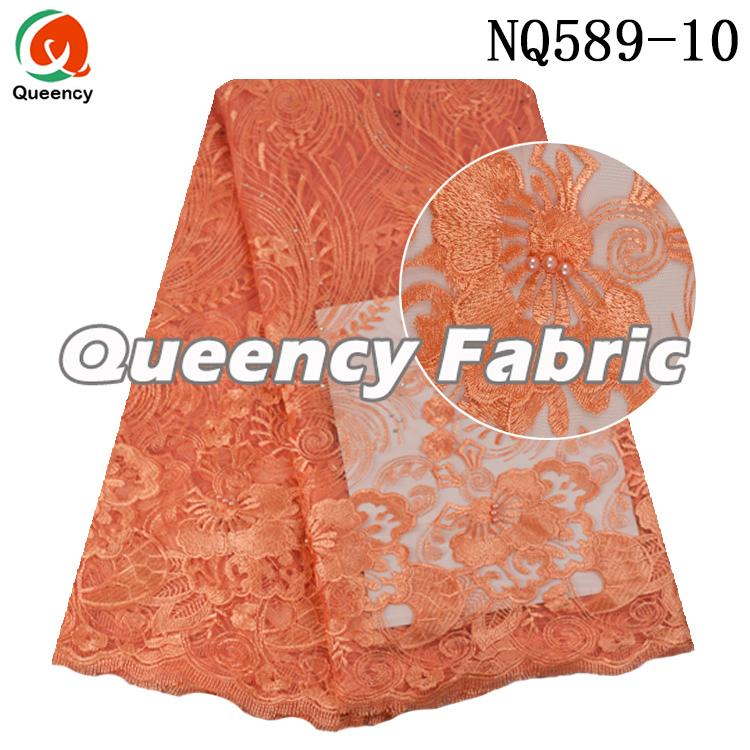 Flower Embroidery Tulle Fabric