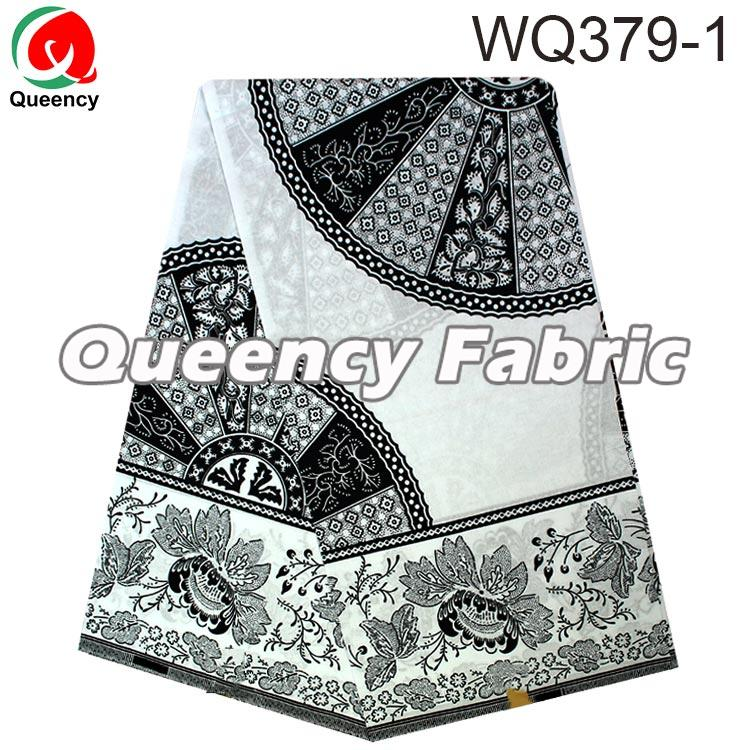 White and Black wax fabric