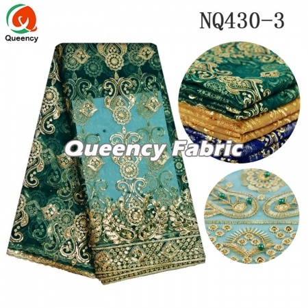 Nigeria Embroidery Net Lace Fabric