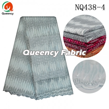 Flower Embroidery Nigeria Tulle Lace