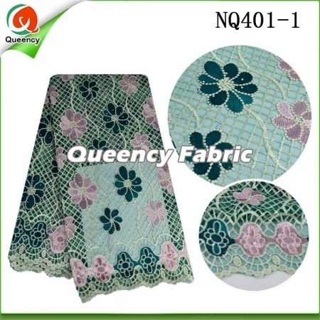 Fabric Cotton Embroidery Tulle African Lace