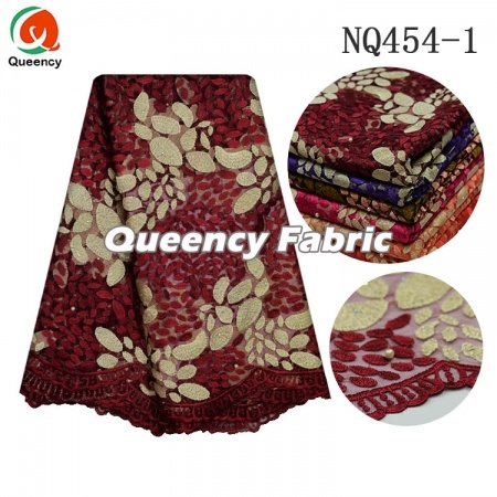 Net Chantilly Embroidery African Lace