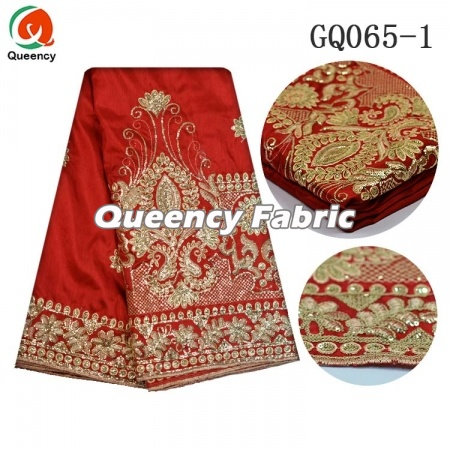 Nigeria Embroidery George Silk Lace Material