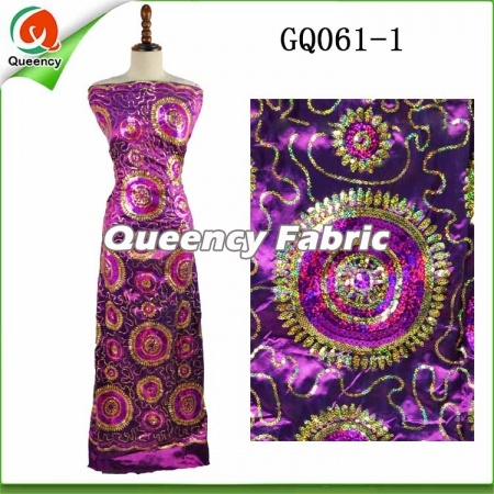 Nigeria George Lace Sequince Embroidery