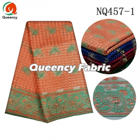 Cotton Lace Embroidery Nigeria Soft Stones Netting
