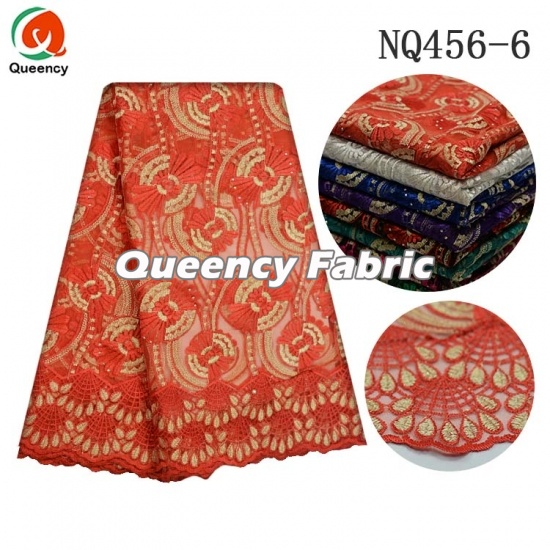 African Soft Netting Material Lace Embroidery