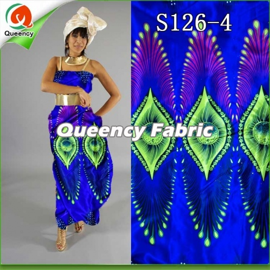 53c2031b9ae Queency Latest Style Nigeria Dresses Style African Wax Printing Satin Soft  Silk Material