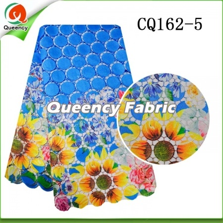 Flower Embroidery Nigeria Chemiacal Lace Dresses