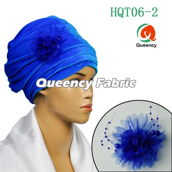Velvet Fabric Ladies Plain Turbans With Brooch