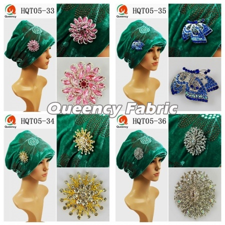 Nigeria Bridal Headband Plain Velvet Turbans