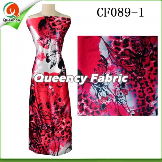 Colorful Printed Chiffon Silk Fabric