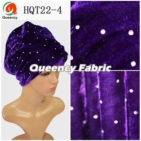 African Ladies Head Hat Turban Velvet