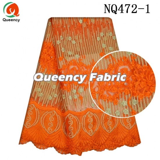 African Lace Cotton Fabric Embroidery Dresses