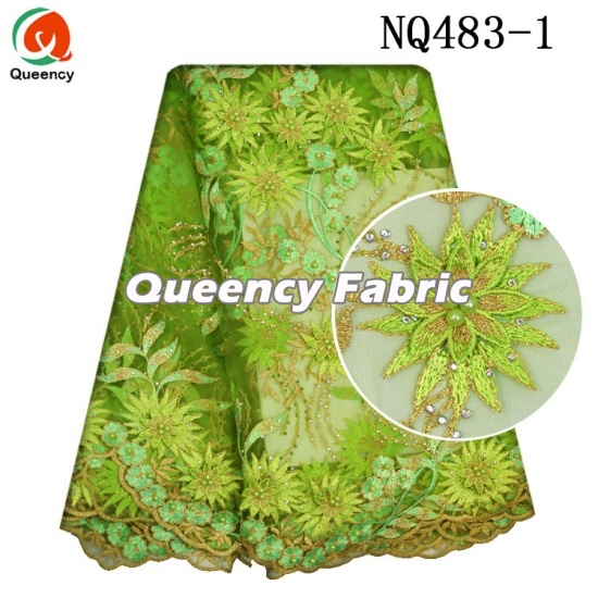 Wholesale African Tulle Cotton Lace Fabric