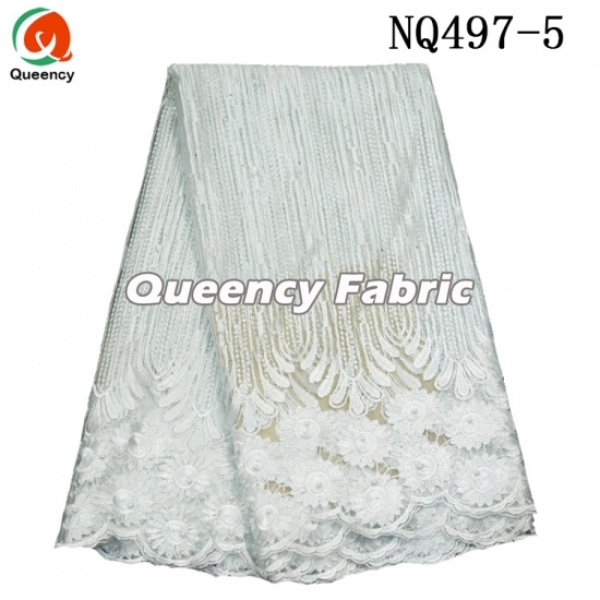 Tulle Beaded Lace Embroidered Fabric