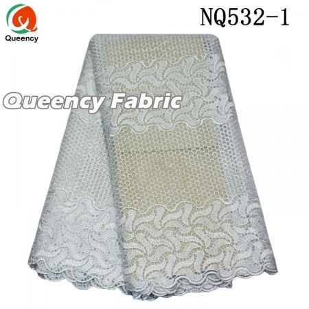 Competitive Nigeria Ladies Tulle Stones Lace Fabric