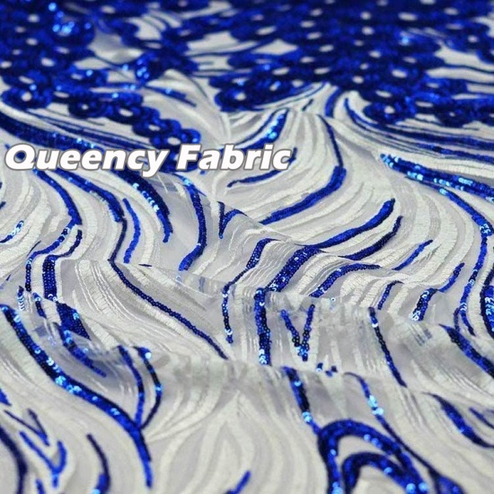 Queency Exclusive African Sequins French Embroidered Lace