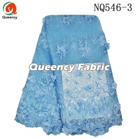 Tulle Lace Embroidery With Bead Applique