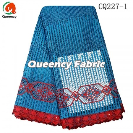 African Guipure Cord Lace Cotton Embroidery